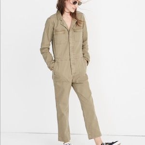 madewell jumpsuit / coverall olive green